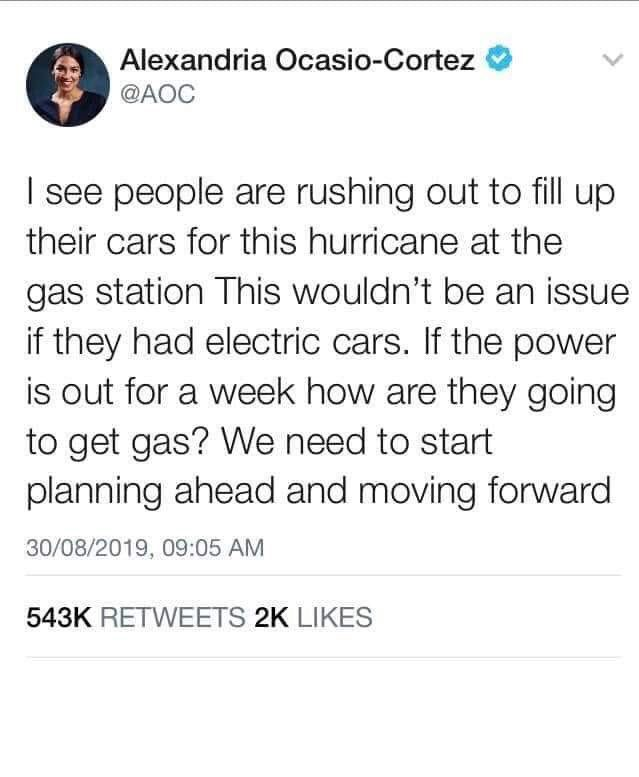 Did Alexandria Ocasio-Cortez Tweet About Electric Cars in