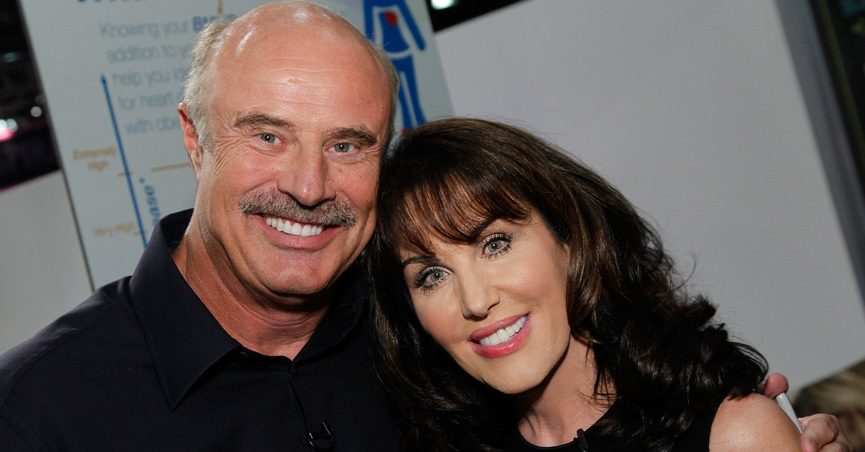 Phil Mcgraw with cool, Wife Robin McGraw