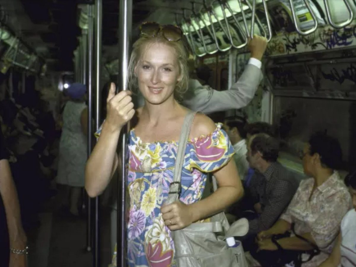 Is This Meryl Streep Riding the Subway After Failing an Audition?