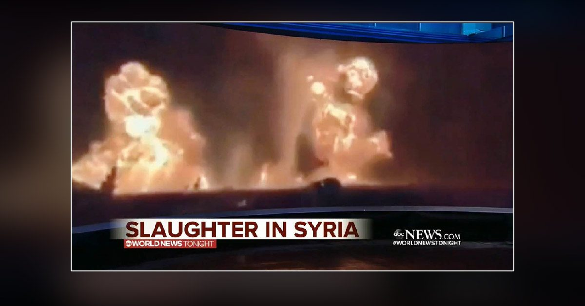 Did ABC Mistakenly Label a Video from a US Gun Range as Syrian War Footage?