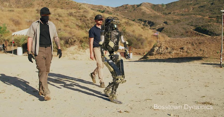 Does a Video Show an Armed Robot Turning on Humans?