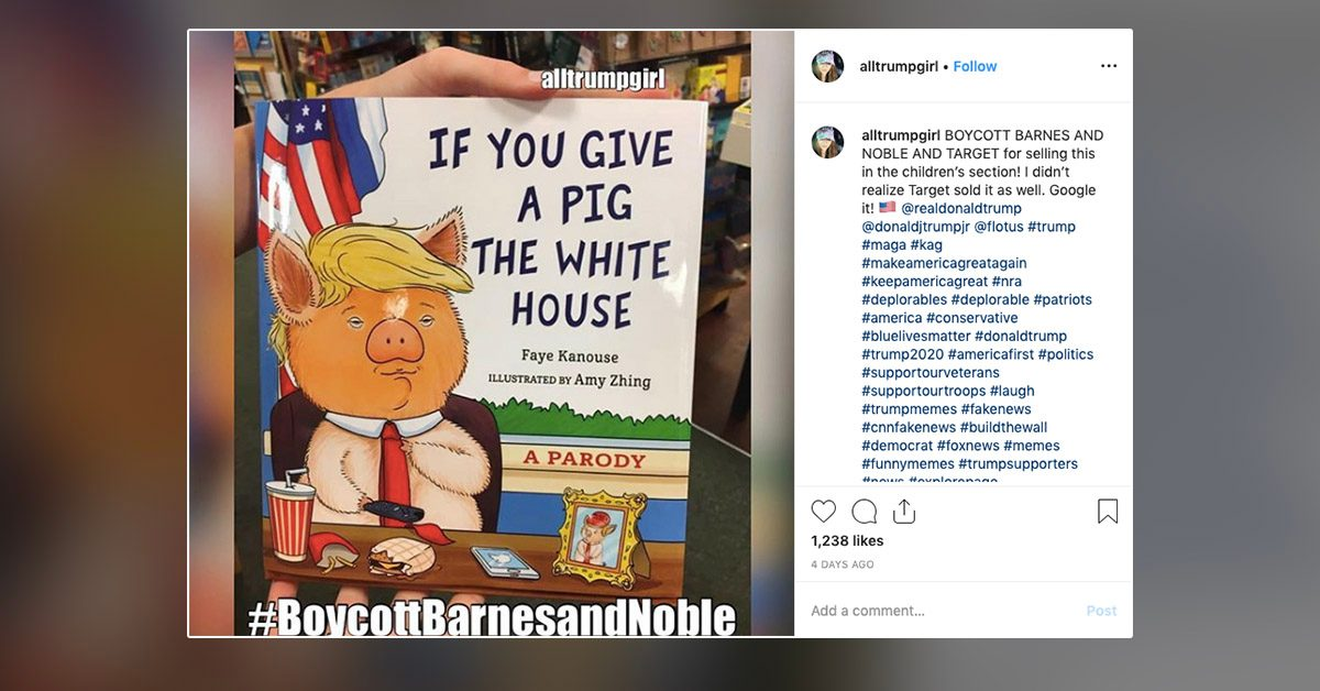 Did Barnes and Noble Market a Parody of Trump's Presidency as a Children's Book?