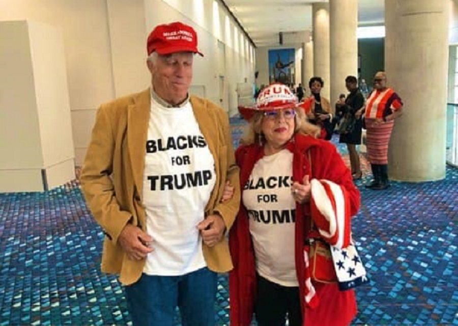 Is This Photo of a Couple Wearing 'Blacks for Trump' Shirts Real?