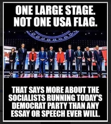 Did No Us Flags Adorn The Stage At The Detroit Democratic Debate