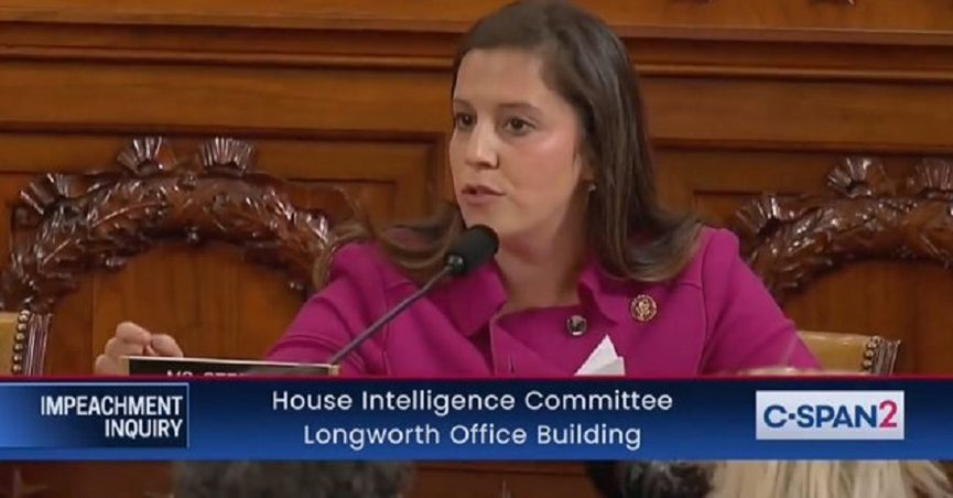 Is This a Picture of Elise Stefanik Flipping the Bird at an Impeachment Inquiry?