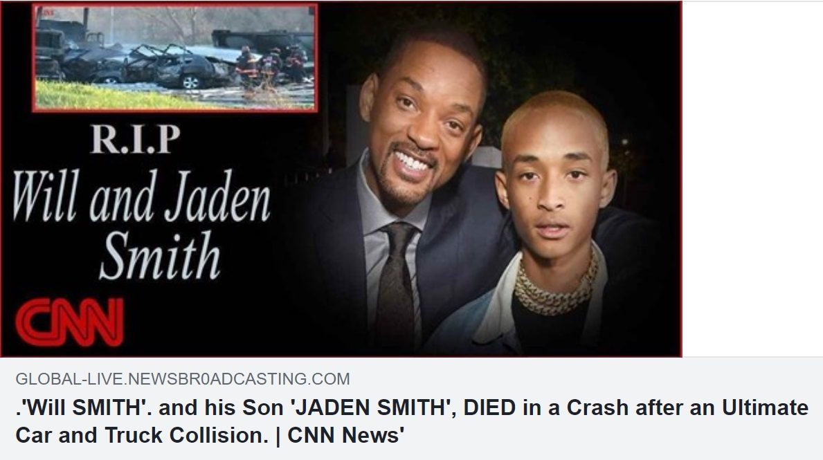 Were Will and Jaden Smith Killed in a Car Crash?