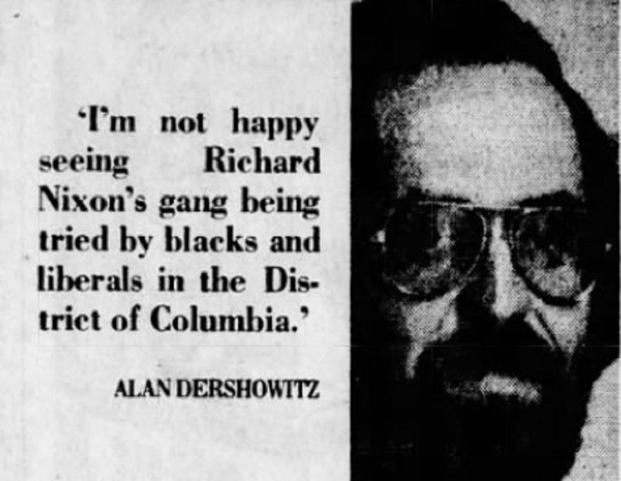 Did Dershowitz Say He Was 'Not Happy Seeing Nixon's Gang Being Tried by Blacks and Liberals'?