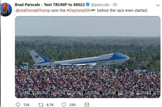 Is This Air Force One During Trump's Visit to Daytona 500? - snopes