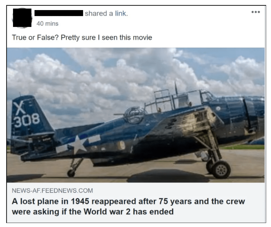 military plane reappears