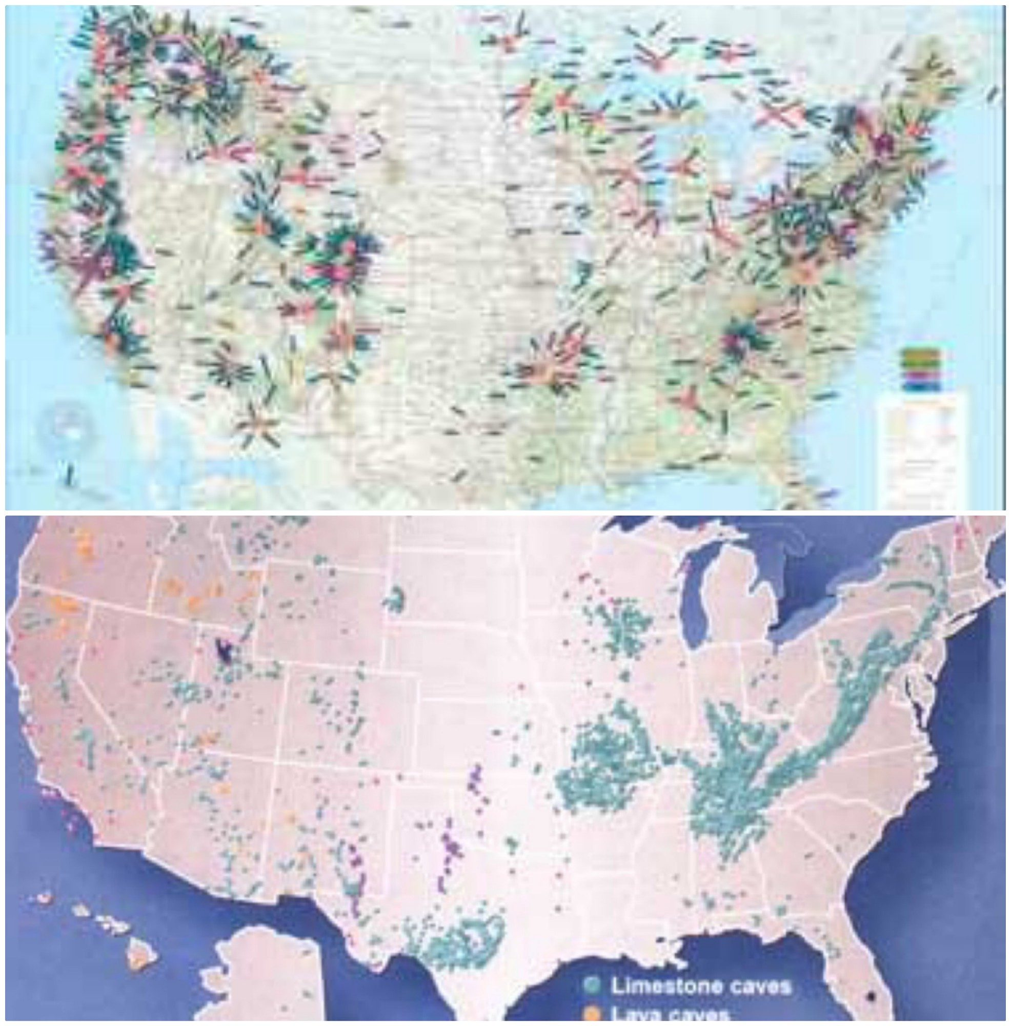 map of caves in the united states Does Map of Missing Persons in US Match Up with Cave Systems?