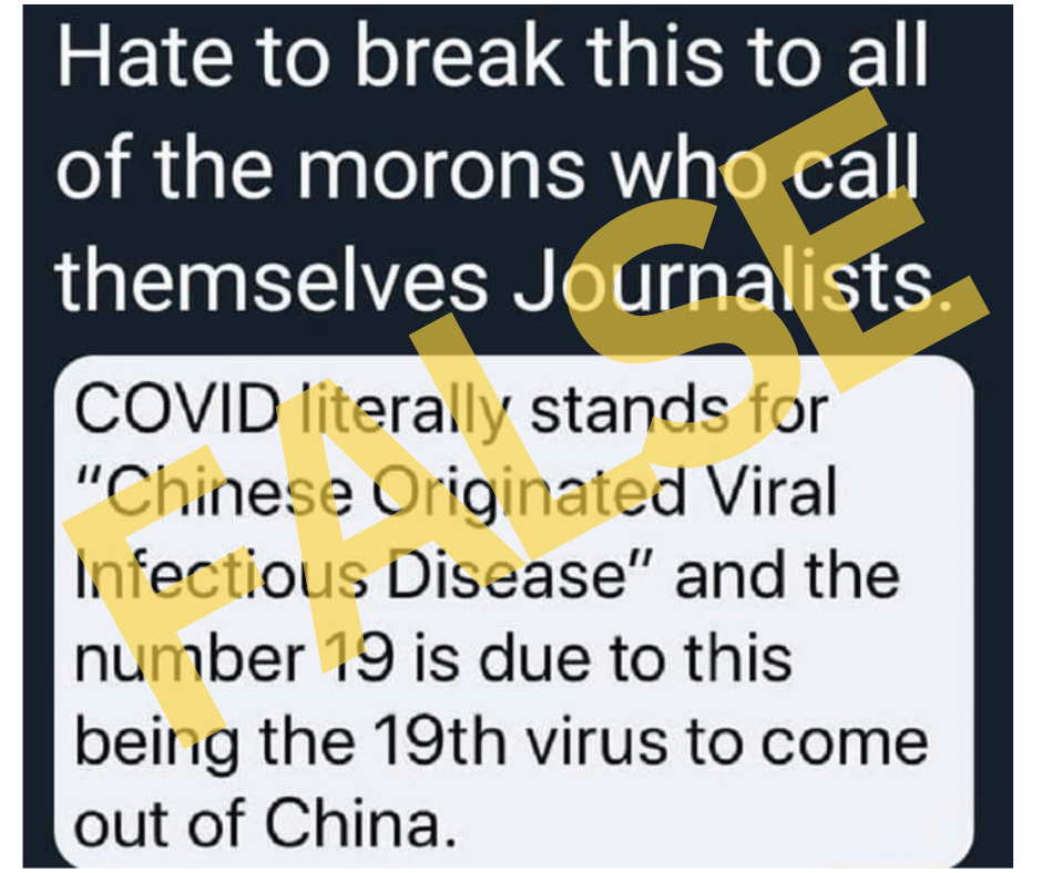 Coronavirus Came From: Does COVID Stand For 'Chinese-Originated Viral Infectious