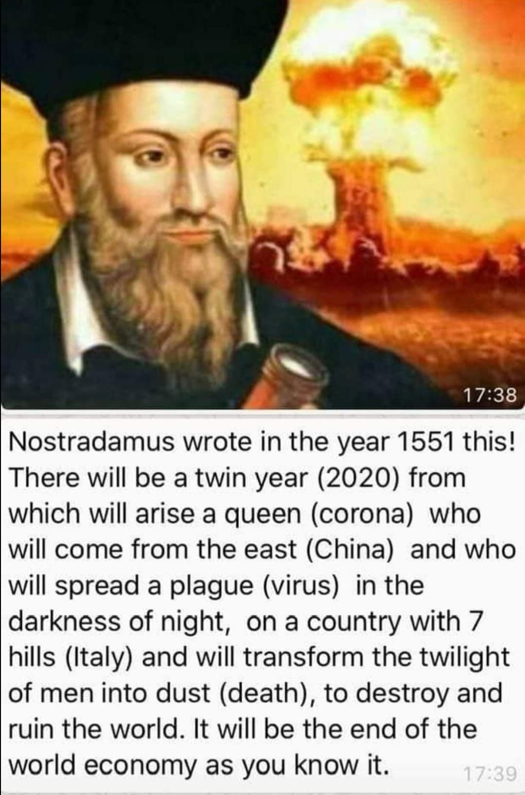 Just In: Nostradamus Predict the COVID-19 pandemic back in 1551 by the 16th century 1