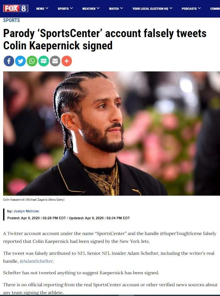 Did the New York Jets Sign Colin Kaepernick? 7