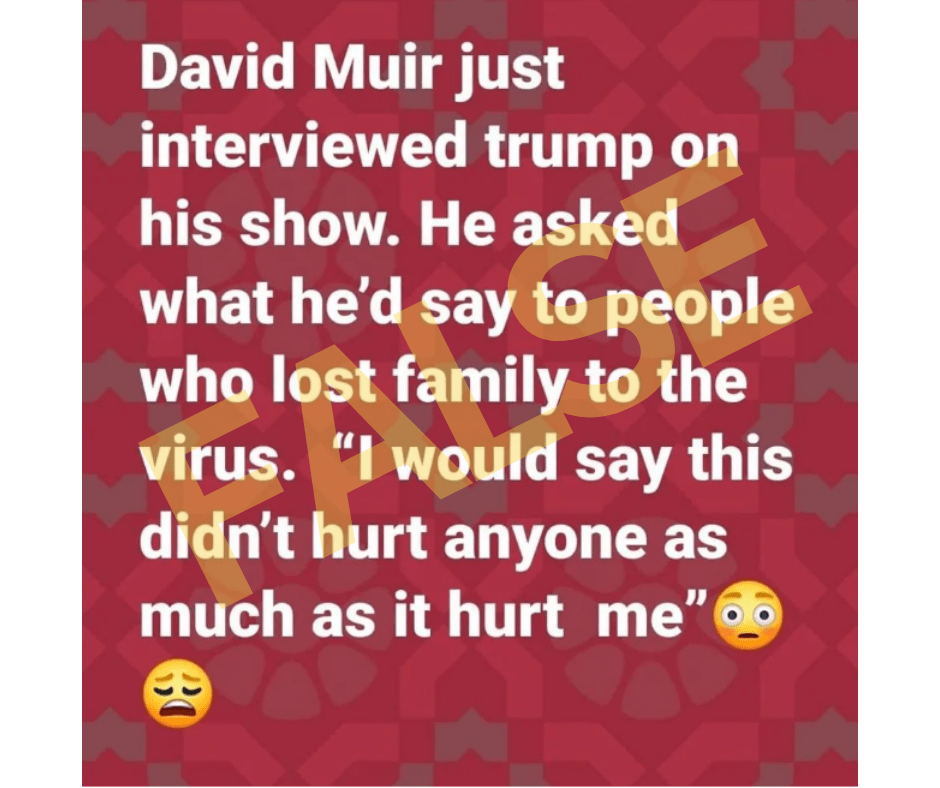 trump covid as much as it hurt me