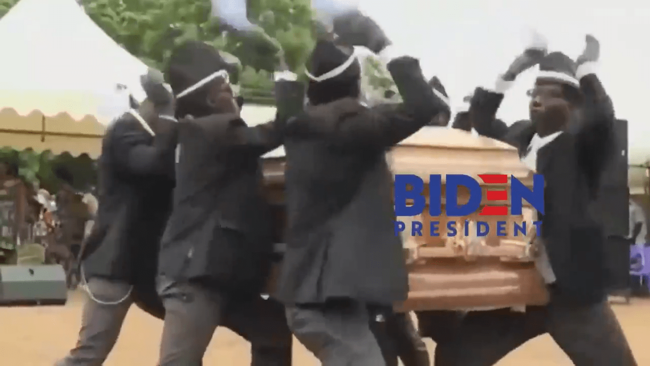 Did Trump Post a Video with Biden Logo on a Coffin? - snopes