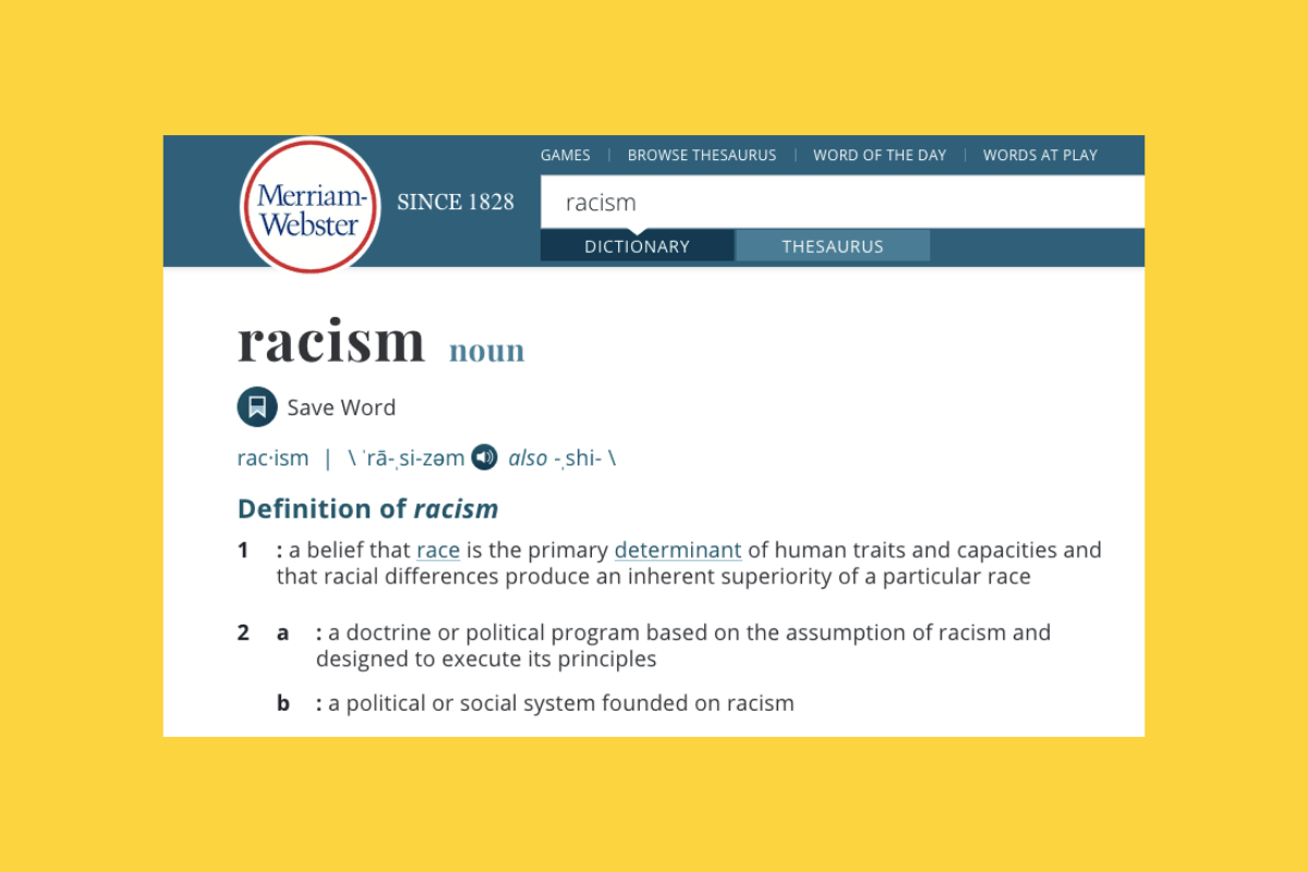 Did Merriam-Webster Update Its Definition of Racism To
