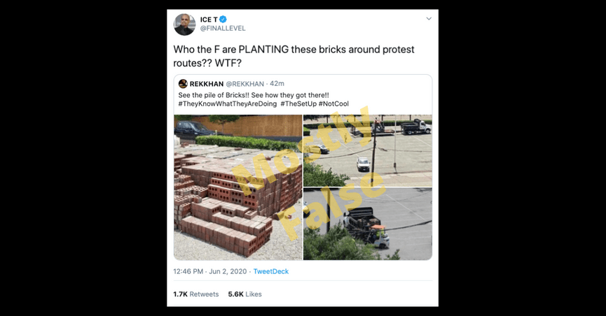 Entangling everyone from Bill Gates to local police, social media users alleged a grand conspiracy unfolding in U.S. cities during 2020 George Floyd protests.