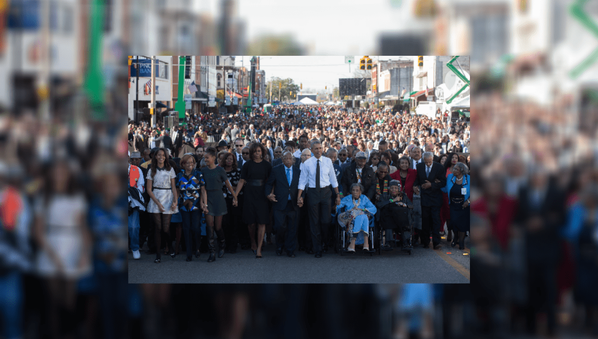 Is This the Obamas Marching with Protesters in 2020? - snopes