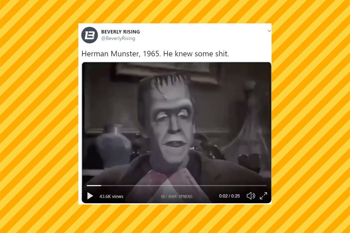 Is This Clip of Herman Munster Giving Life Lessons Real?