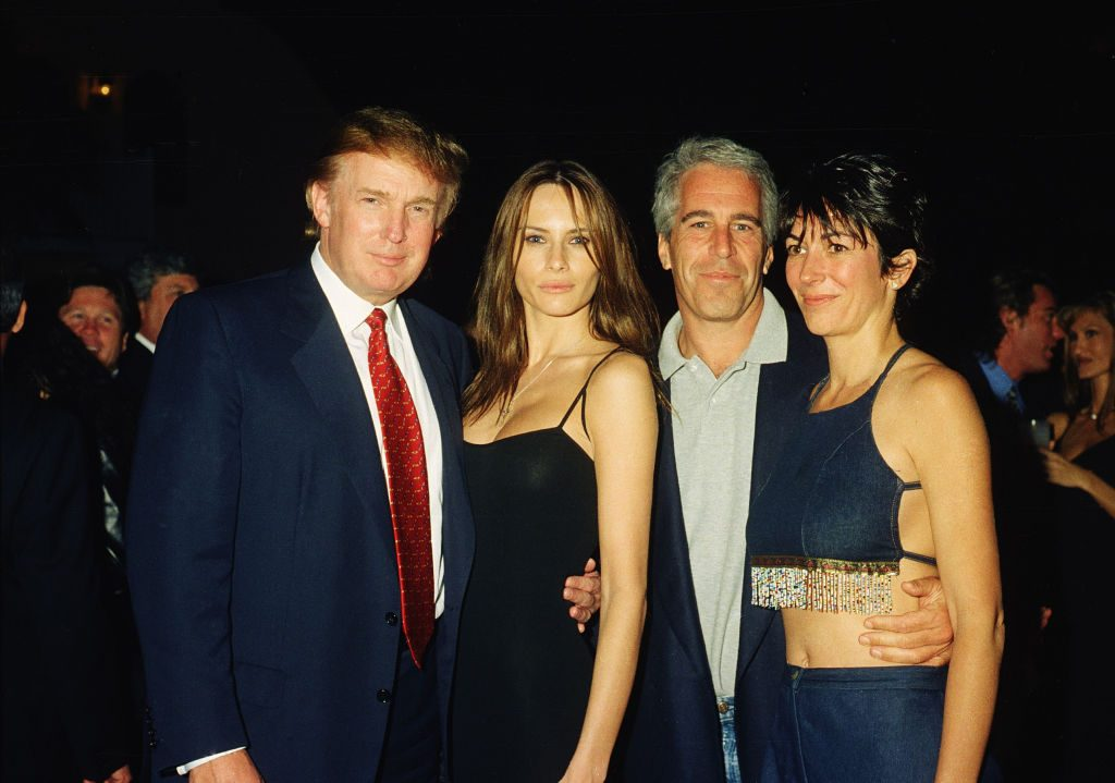 Are These Images of Donald Trump and Ghislaine Maxwell Real?