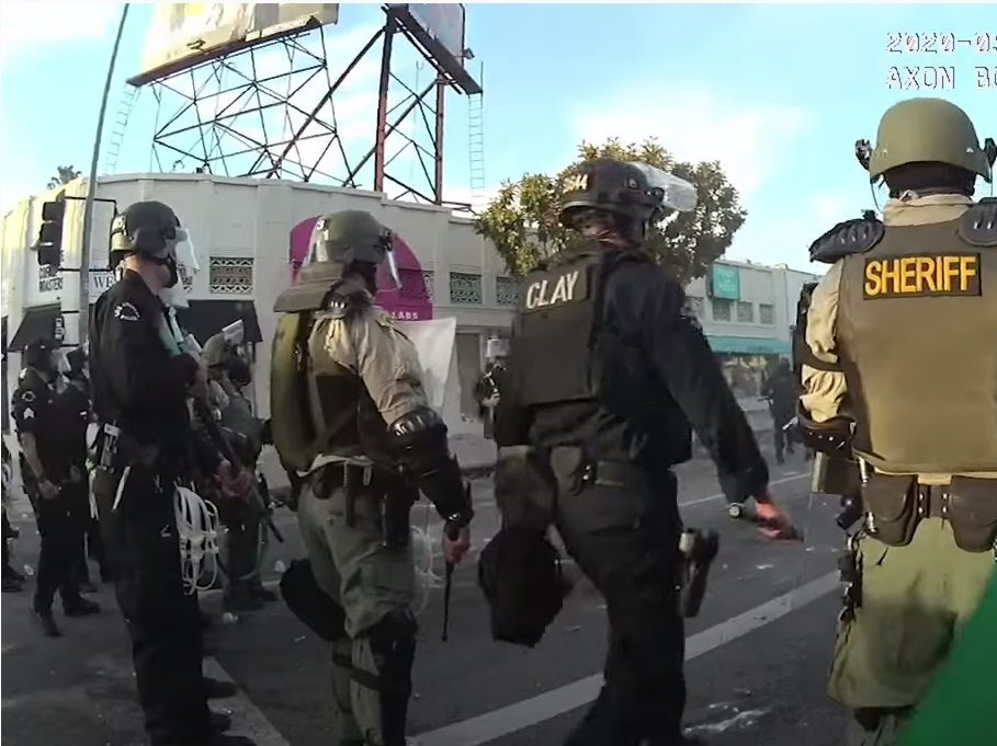LA Police Video Shows Protester with Hands Up Shot in Head