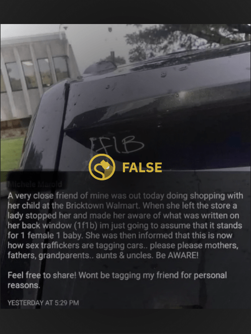 sex traffickers tagging cars