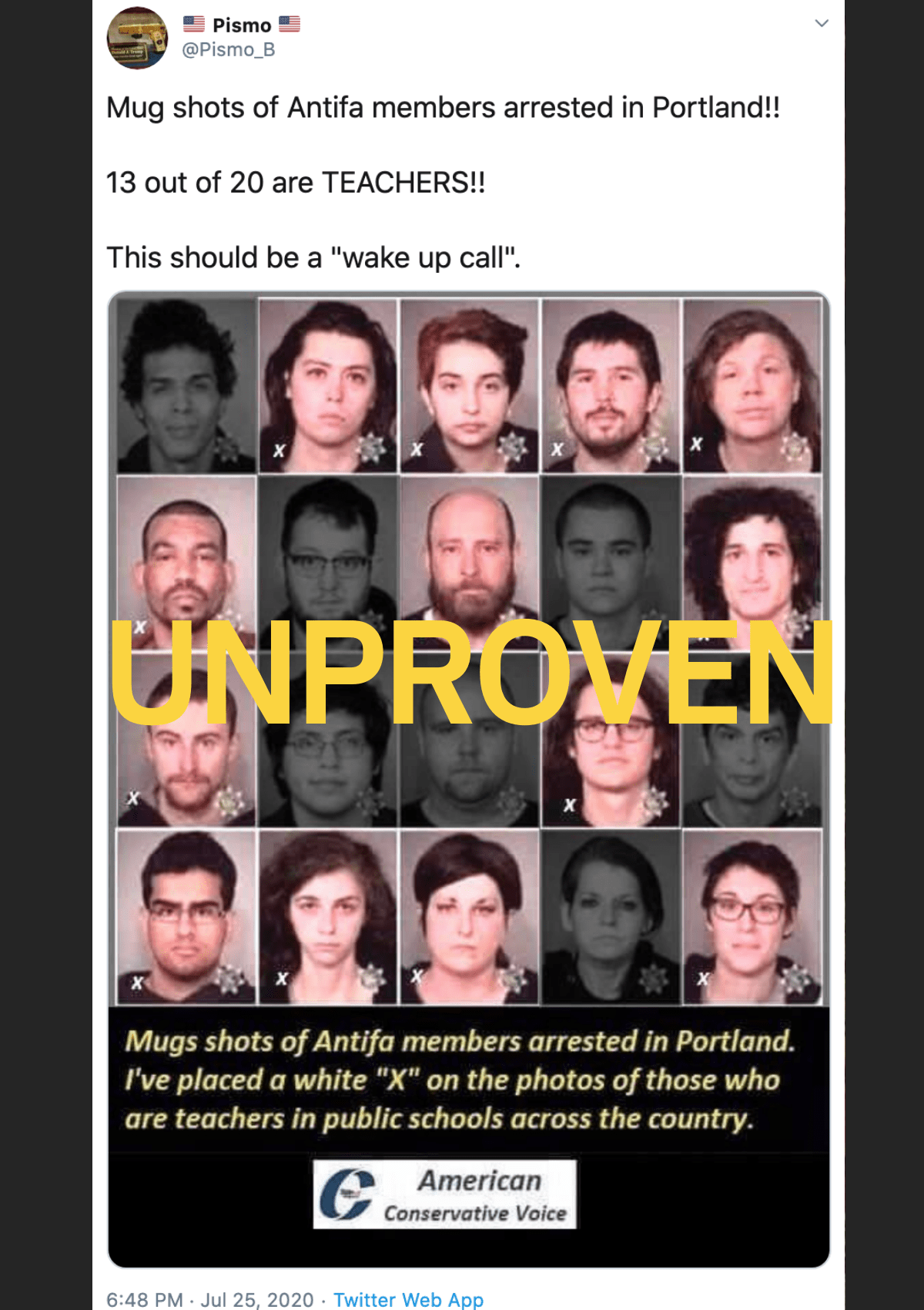 Did Mugshots Show 13 'Antifa Teachers' Arrested in Portland? - snopes