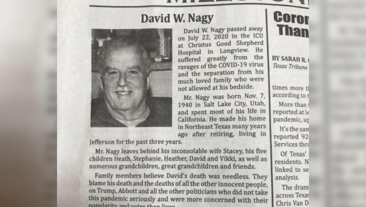 Did Obituary Blame Trump for Man's COVID-19 Death? - snopes