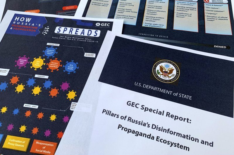 State Dept. Says Russia Pushes Disinformation in Online Network