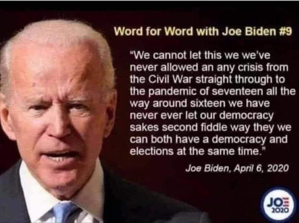 Did Biden Make This Statement About Democracy During a Pandemic?