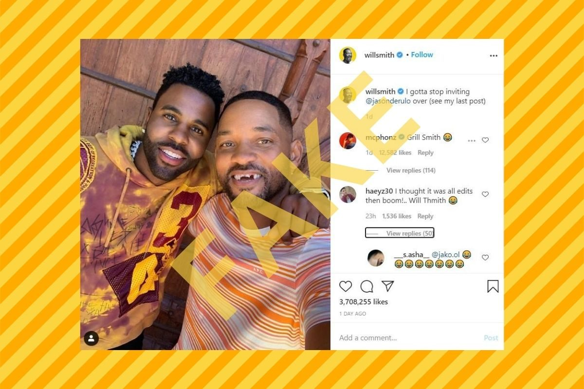 Were Will Smith's Teeth Knocked Out by Jason Derulo? - snopes