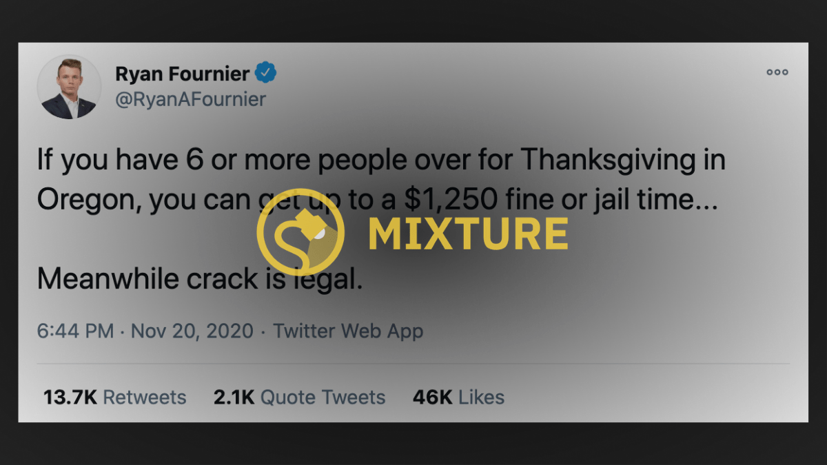 Can Large Thanksgiving Dinners Lead to Jail Time in Oregon While 'Crack Is Legal'? - snopes