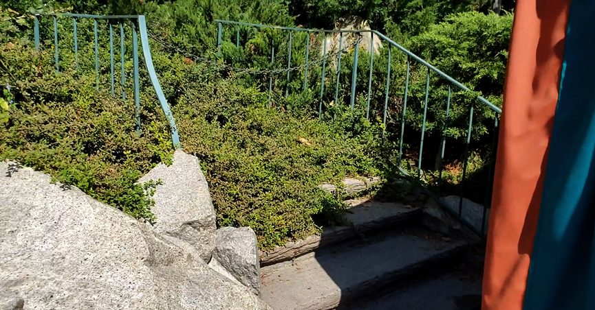disney abandoned attractions skyway steps stairs river country disneyland walt disney world parks