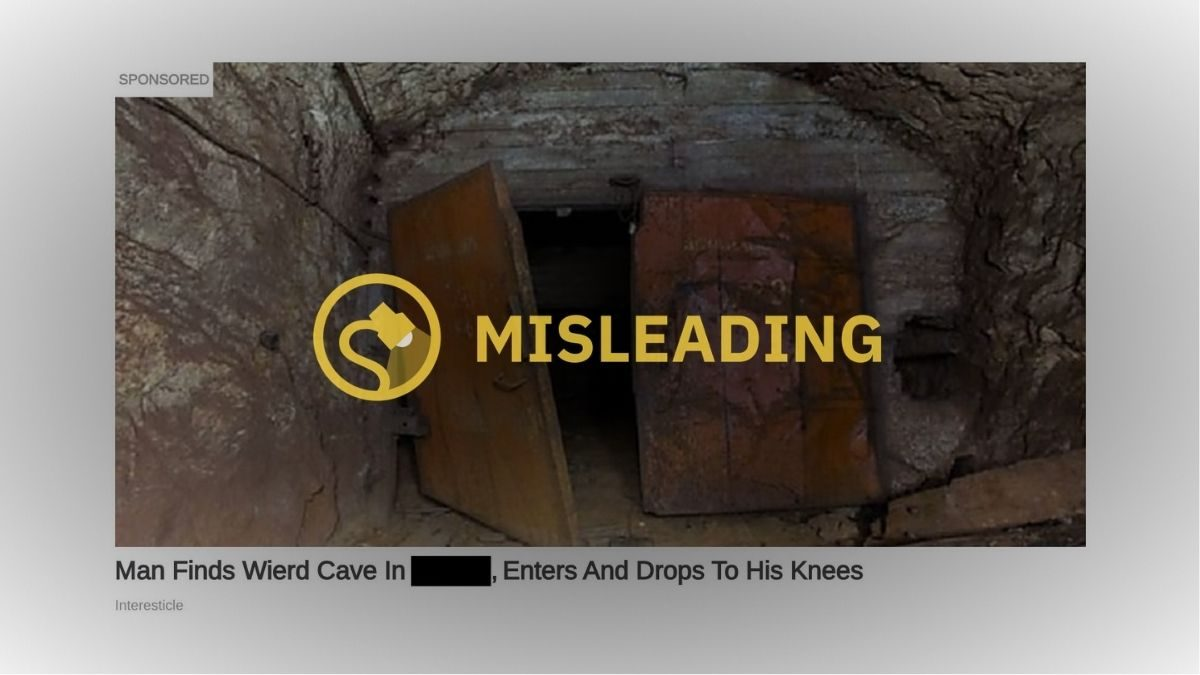 Fact Check Man Finds Weird Cave With Gold Mine In Your Town
