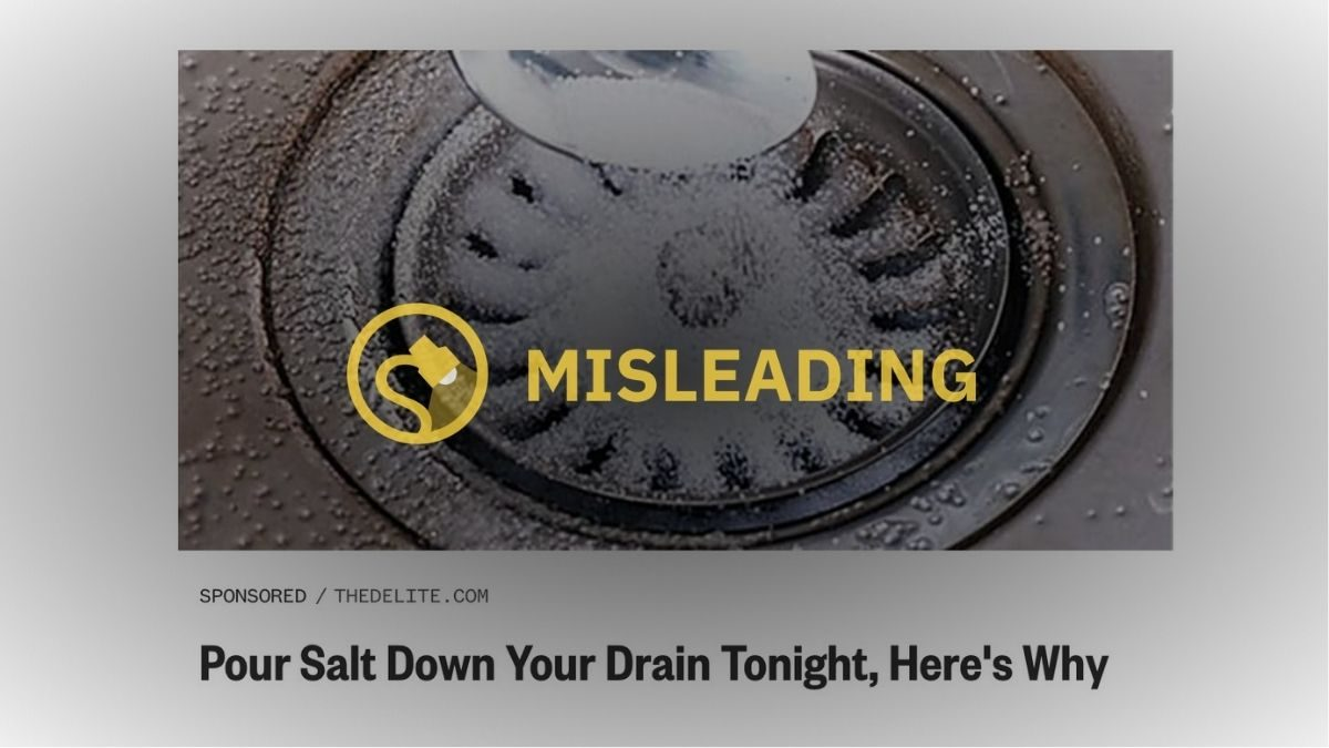 pour salt down your drain at night tonight