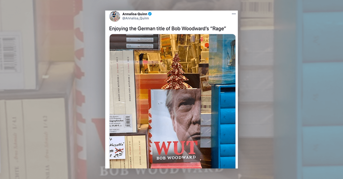Is This the German Title of Bob Woodward's 'Rage'?