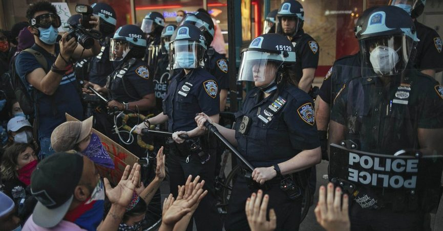nypd officers at george floyd protests