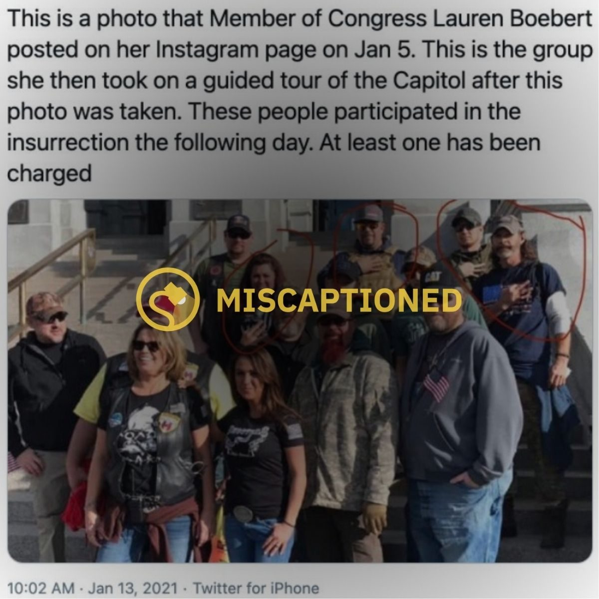 Does a Photo Show Rep. Boebert With Insurrectionists...