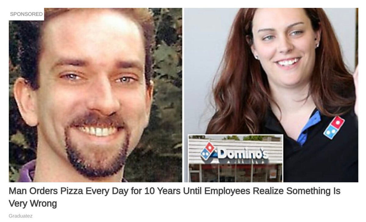 Man Orders Domino's Dominos Pizza Every Day for 10 Years Until Employees Realize Something Is Very Wrong