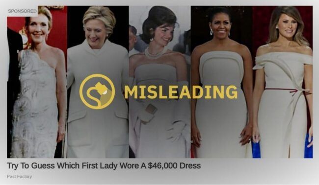 Did a First Lady Wear a $46K Dress to an Inaugural Ball? - snopes