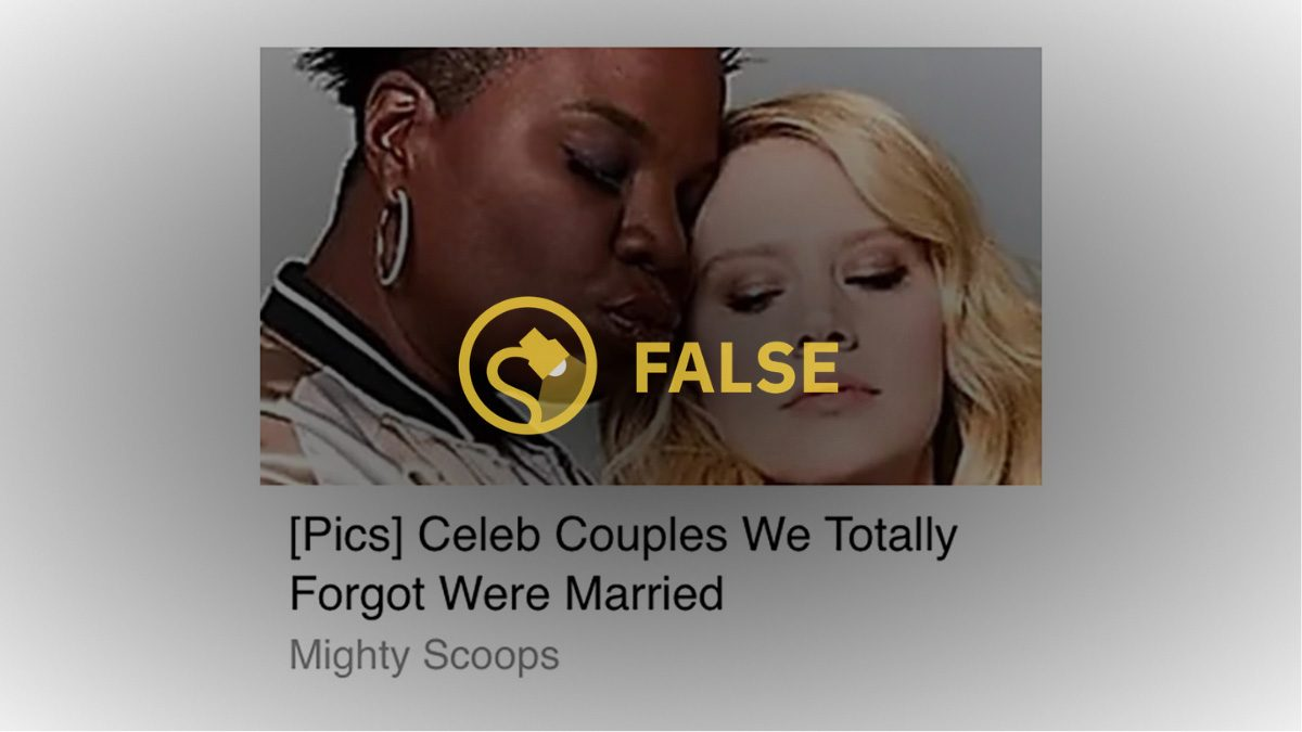 Are Comedians Leslie Jones and Kate McKinnon Married? - snopes
