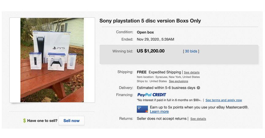 empty ps5 boxes ebay box playstation 5 no console only