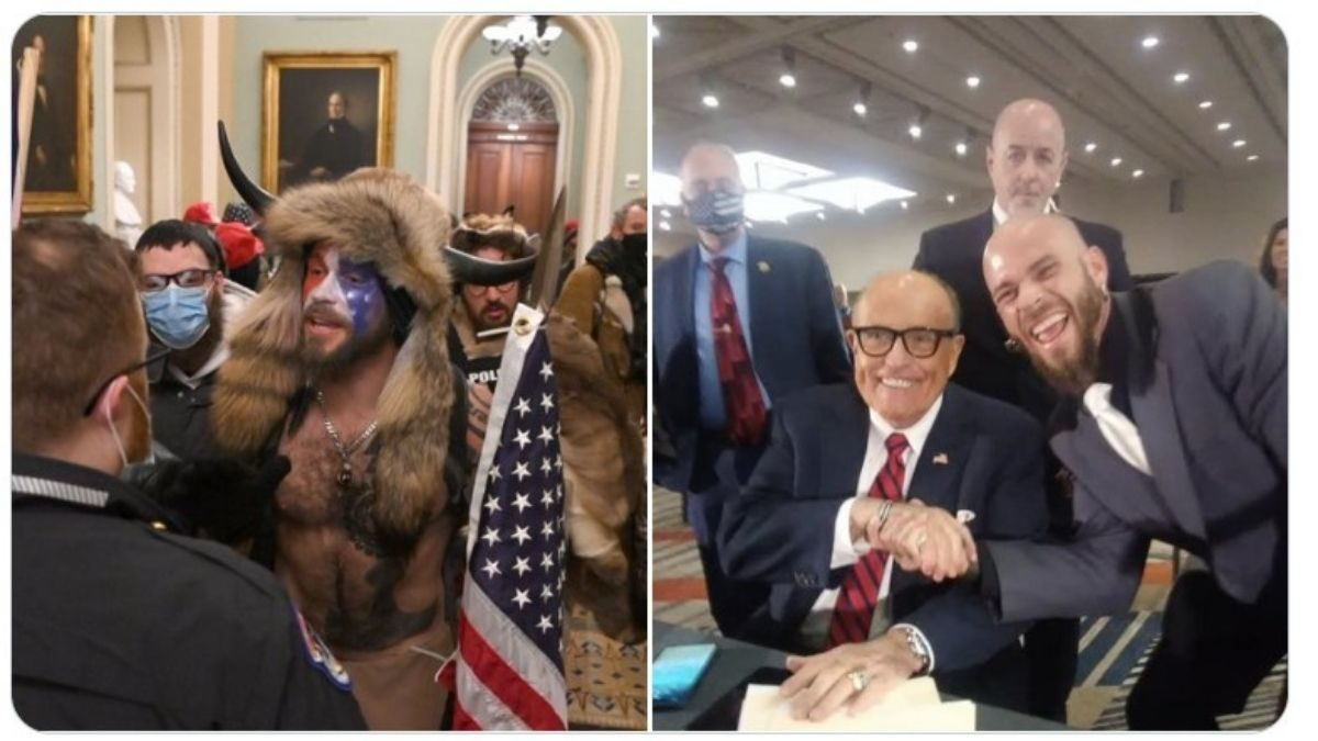 Was Giuliani Photographed with Capitol Rioter Jake Angeli?