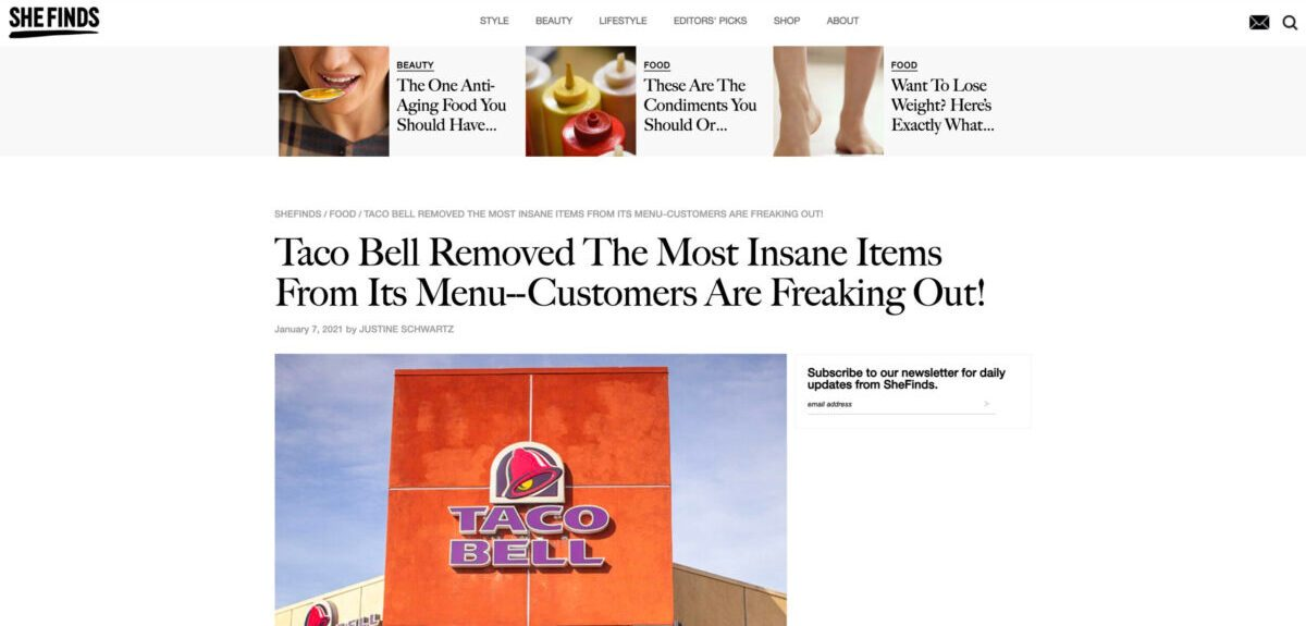 Taco Bell Removed The Most Insane Items From Its Menu Customers Are Freaking Out