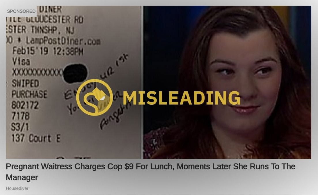 Pregnant Waitress Charges Cop $9 For Lunch Moments Later She Runs To The Manager $100 100