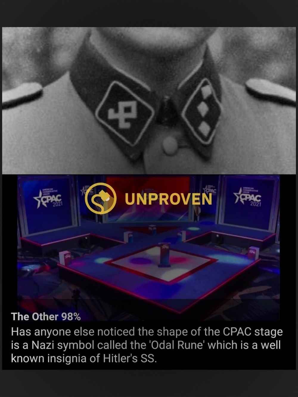 Was the CPAC Stage Intentionally Shaped Like a Nazi Symbol? - snopes
