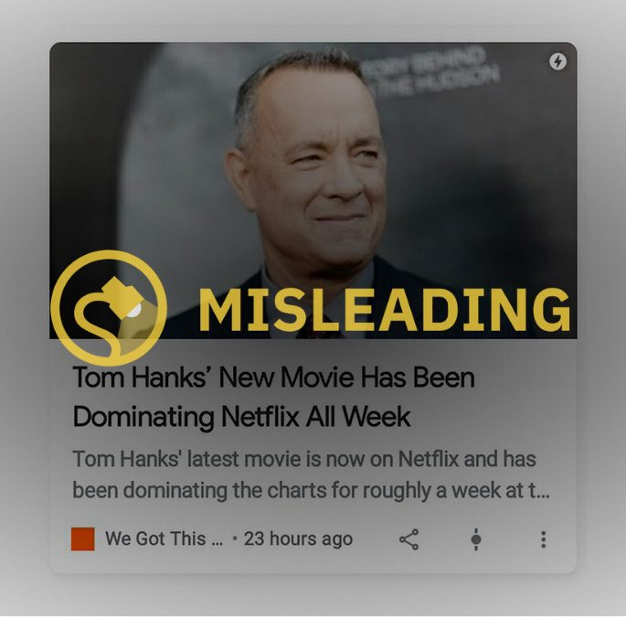 Tom Hanks New Movie Has Been Dominating Netflix All Week news of the world 2020 paul greengrass