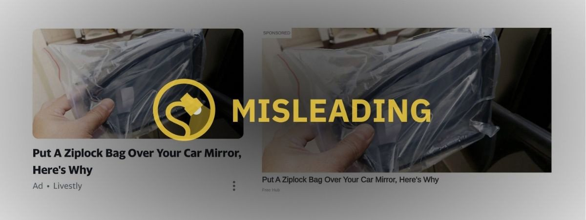 put a putting placing covering cover place ziplock bag over your car mirror here's why ziplock