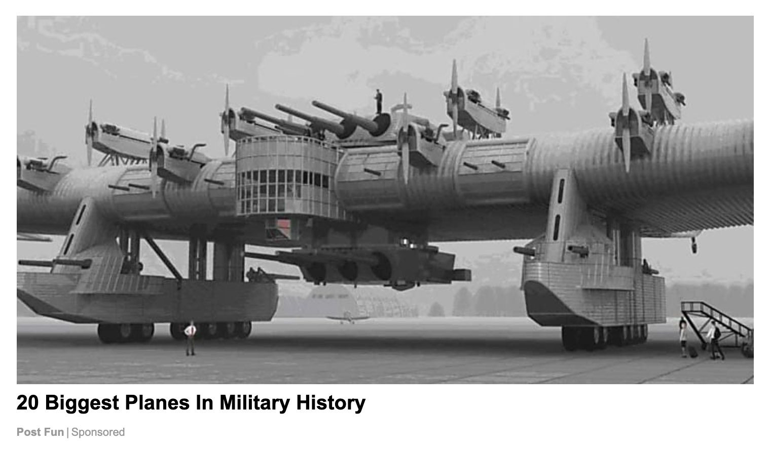 The Russian Kalinin K7 heavy bomber was featured in quite a few photographs, but they were artist renders.
