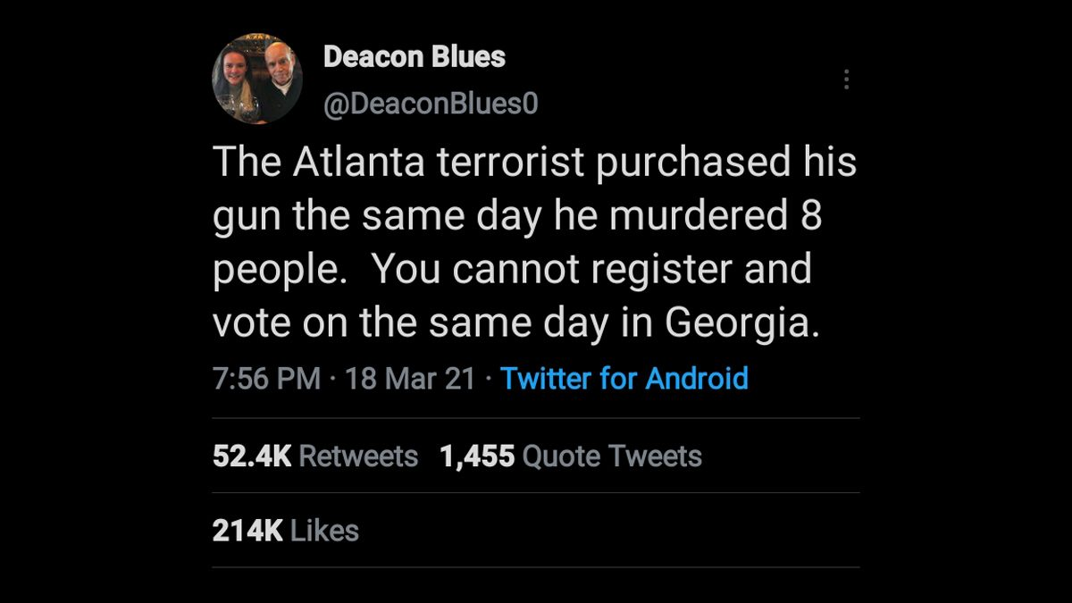 The Atlanta shooting suspect purchased a gun the same day as the massage spa murders, prior to the killings.